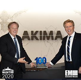 Akima CEO Bill Monet Bags First Wash100 Award