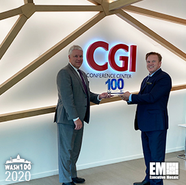 CGI Federal President Tim Hurlebaus Receives Third Wash100 Award