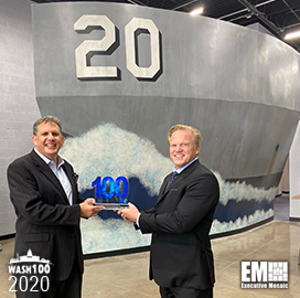 James Geurts, Navy Assistant Secretary for R&D and Acquisition, Bags First Wash100 Award