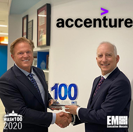 Accenture Federal's John Goodman Wins Third Straight Wash100 Award From Executive Mosaic