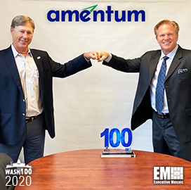 Amentum CEO John Vollmer Wins Fifth Wash100 From Executive Mosaic