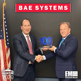 BAE I&S President Al Whitmore Bags Third Wash100 Award
