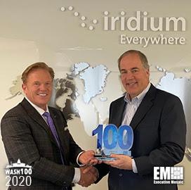 Iridium's Matt Desch Bags Sixth Straight Wash100 Award From Executive Mosaic