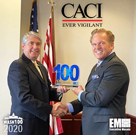 John Mengucci, President and CEO of CACI, Receives First Wash100 Award From Executive Mosaic