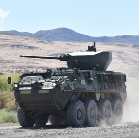 GDLS, Epirus to Upgrade Stryker Vehicles With Counter-Drone Tech